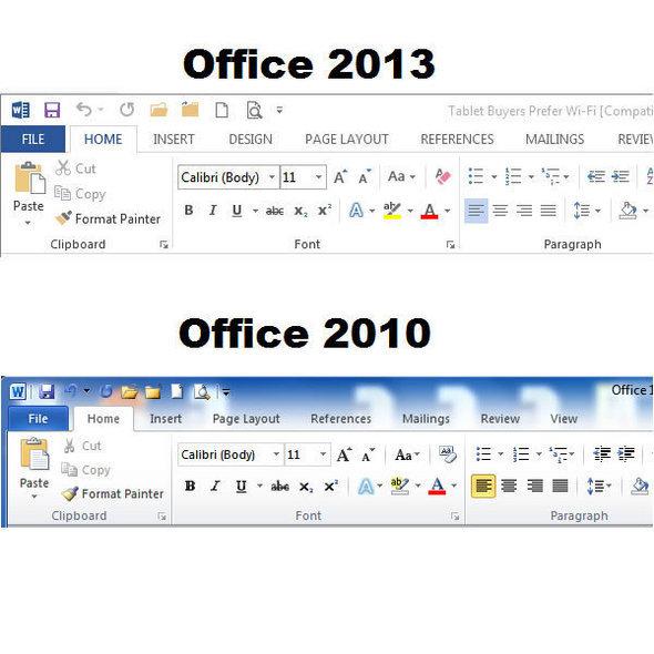 microsoft office 2010 and 2013 comparison