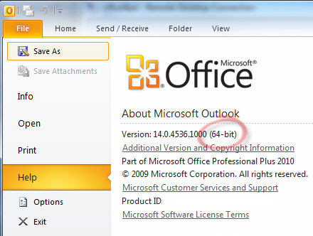 How to install Microsoft Office 2010 x64 version?