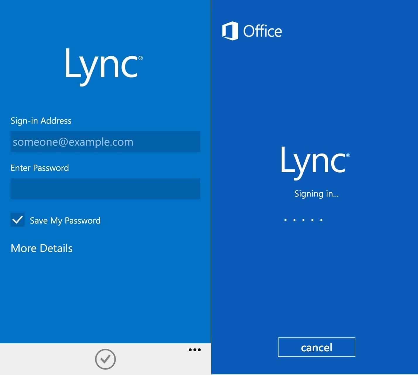 Microsoft Lync 2013 Communicator for iPhone