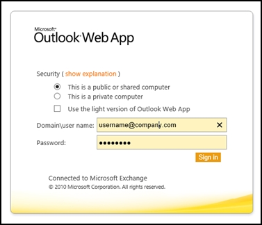 Tips to access Outlook Web App