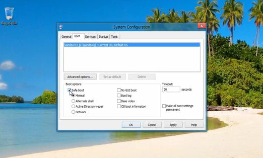 how to open msconfig in safe mode